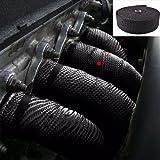 """2"""" 50Ft Black Exhaust Header Fiberglass Heat Wrap"""