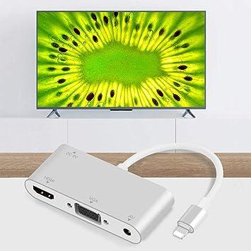 Adaptador Lightning a VGA/HDMI/AV para proyector de televisión de ...