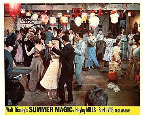 (Summer Magic Original Disney Lobby Card Hayley Mills at Dance With Peter Brown)
