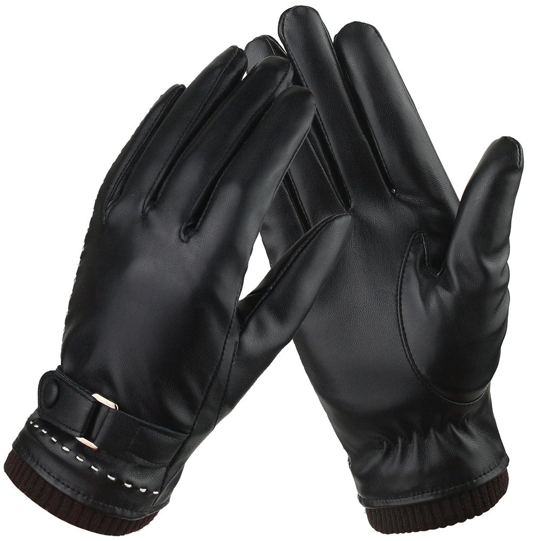 Gants Tactiles Femmes pour Texting Driving, Gants en cuir chauds d hiver,  Doublure 28d709ce859b