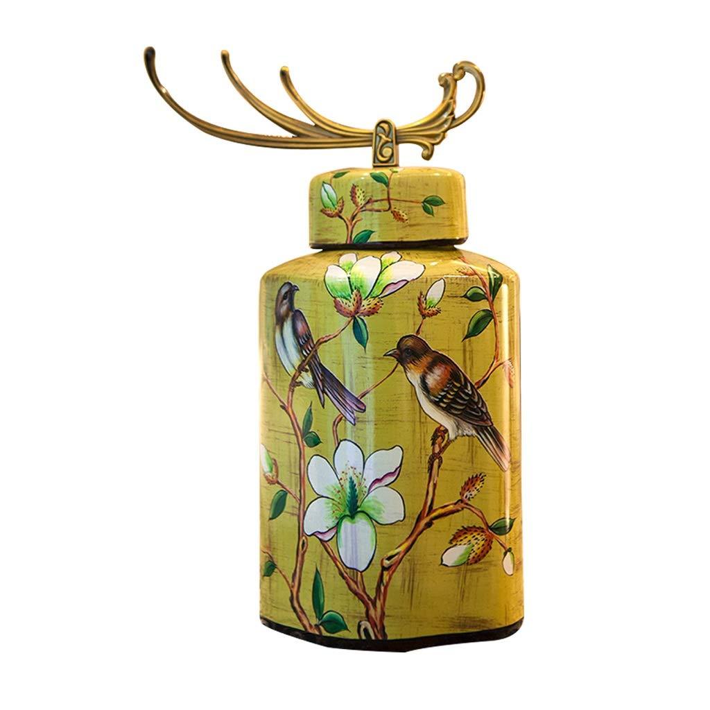 アメリカの国セラミック花瓶花ホームモデルルームリビングルームテーブルデコレーション LQX B07R29ZNQG
