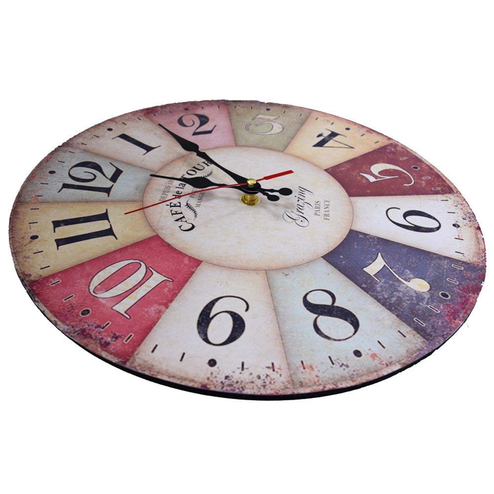 Amazon.com: Elikeable Reloj de pared decorativo, 12 pulgadas ...