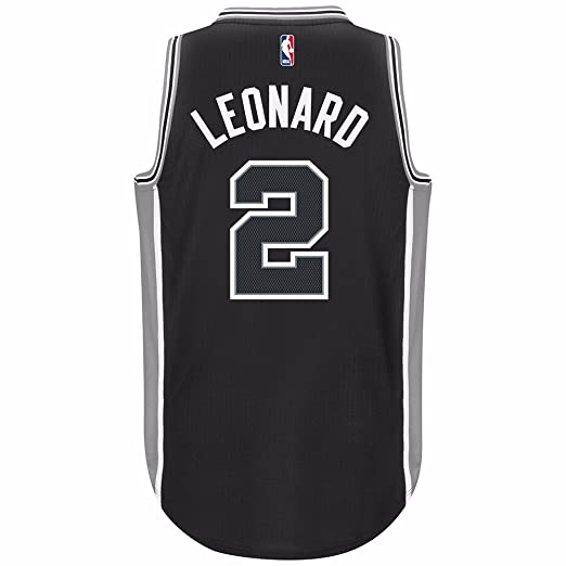 competitive price bbe69 d93bc Amazon.com : Kawhi Leonard San Antonio Spurs Black Adidas ...