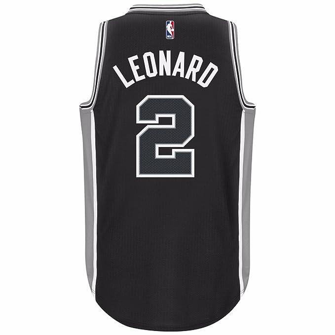 competitive price d406d a4672 Amazon.com : Kawhi Leonard San Antonio Spurs Black Adidas ...