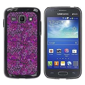 iKiki Tech / Estuche rígido - Purple Pink Bling Pattern - Samsung Galaxy Ace 3 GT-S7270 GT-S7275 GT-S7272