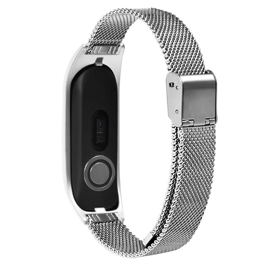 Milanese Metal Case Watch Loop Stainless Steel Watch Band Replacement Strap for Tomtom Touch (Silver) by YNAA (Image #3)