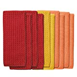 Town and Country Living Microfiber Kitchen Towels 10-pack - Red/Orange/Yellow
