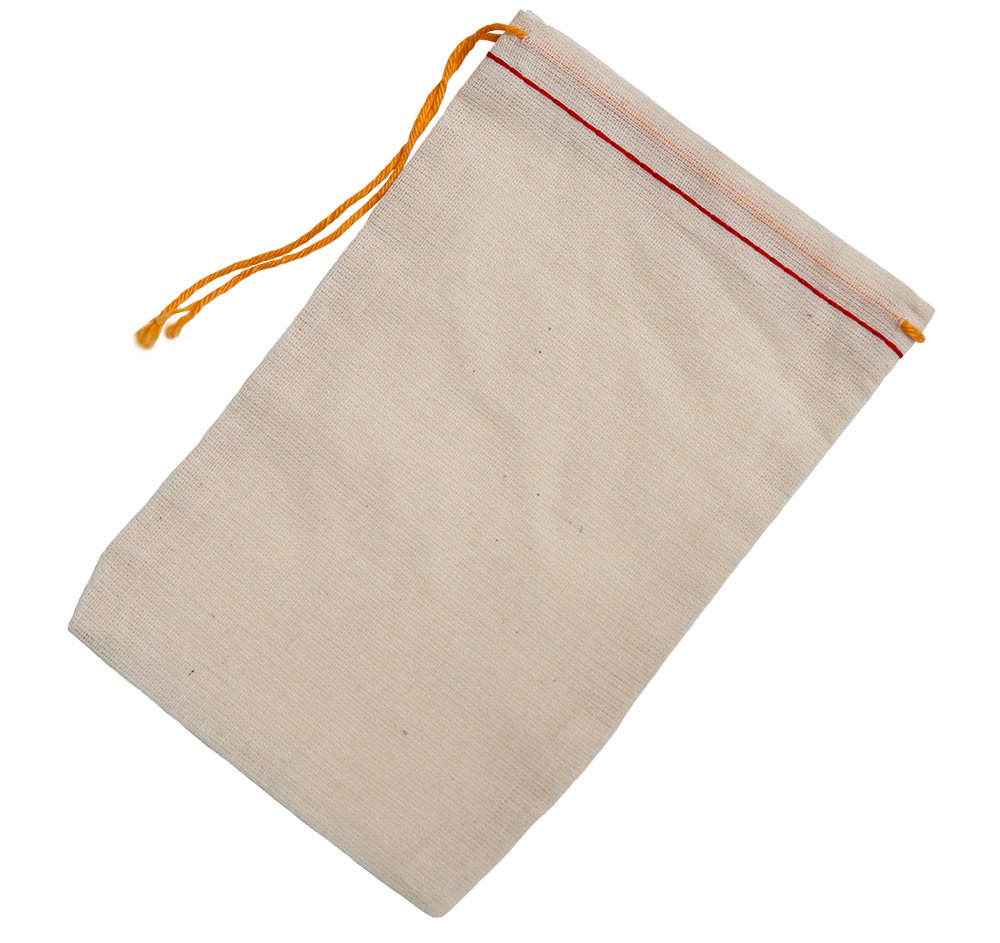 Celestial Gifts Cotton Muslin Bags 9.5x14.5 Cm Red Hem Orange Drawstring 50 Count Pack 4x6rho50
