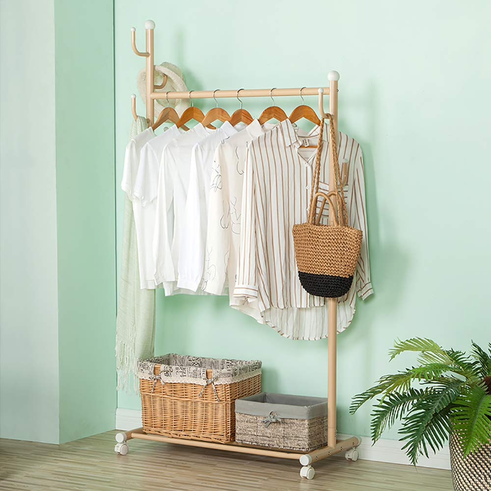 Baby Clothes,Diapers,Underwear Socks Gloves SINGAYE Hanging Drying Rack Windproof Aluminum Alloy Laundry Drying Drip Hanger with 22 Clips for Drying Towels Champagne Gold