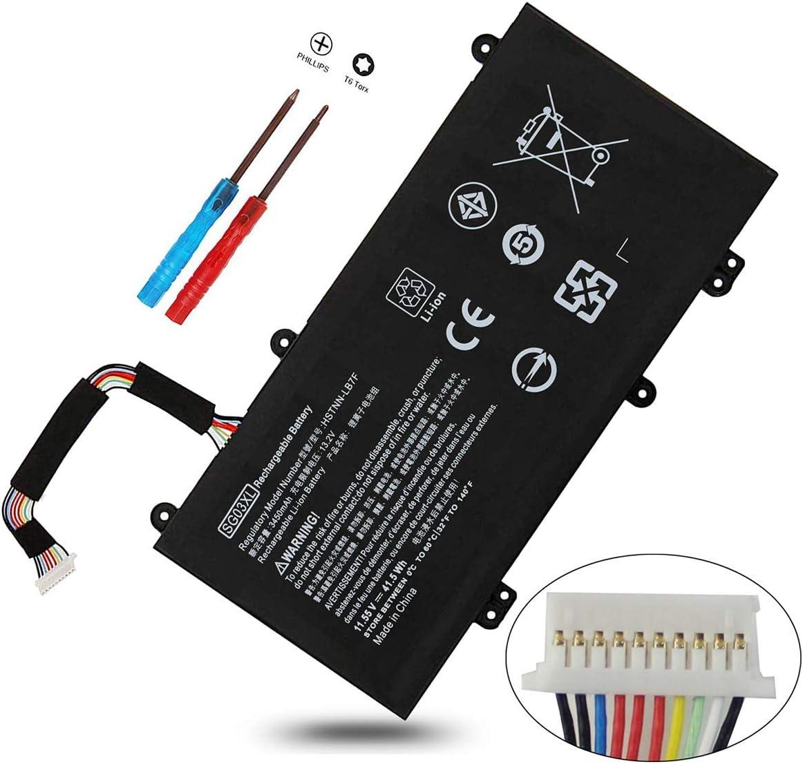 SG03XL 849048-421 Battery for HP Envy M7-U109DX M7-U009DX 17T-U100 17-U100 M7-U000 17-U177CL 17-U011NR 17-U110NR 17T-U000,M7-U 17-U 17T-U,849049-421 HSTNN-LB7F TPN-I126 W2K88UA W2K86UA W2K87UA 41.5Wh