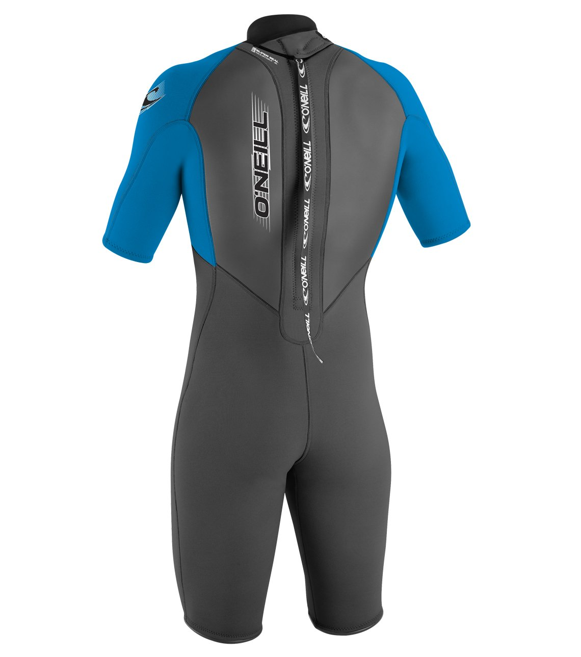 O'Neill Youth Reactor 2mm Back Zip Spring Wetsuit, Graphite/Brite Blue/Brite Blue, 6 by O'Neill Wetsuits (Image #2)