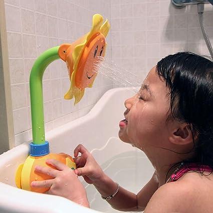 UK Baby Bath Toy Children Sunflower Spray Water Shower Tub Faucet Kids Bathroom