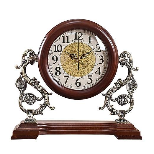 KJH Reloj de Mesa, Retro Reloj de La Chimenea de La Sala de Estar ...