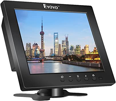 Eyoyo S801C 8 Pulgadas Monitor TFT LCD Pantalla (4: 3,1204x768, 250cd / ㎡,VGA, BNC, AV, HDMI, Ypbpr) (8 Inch 1024x768): Amazon.es: Electrónica