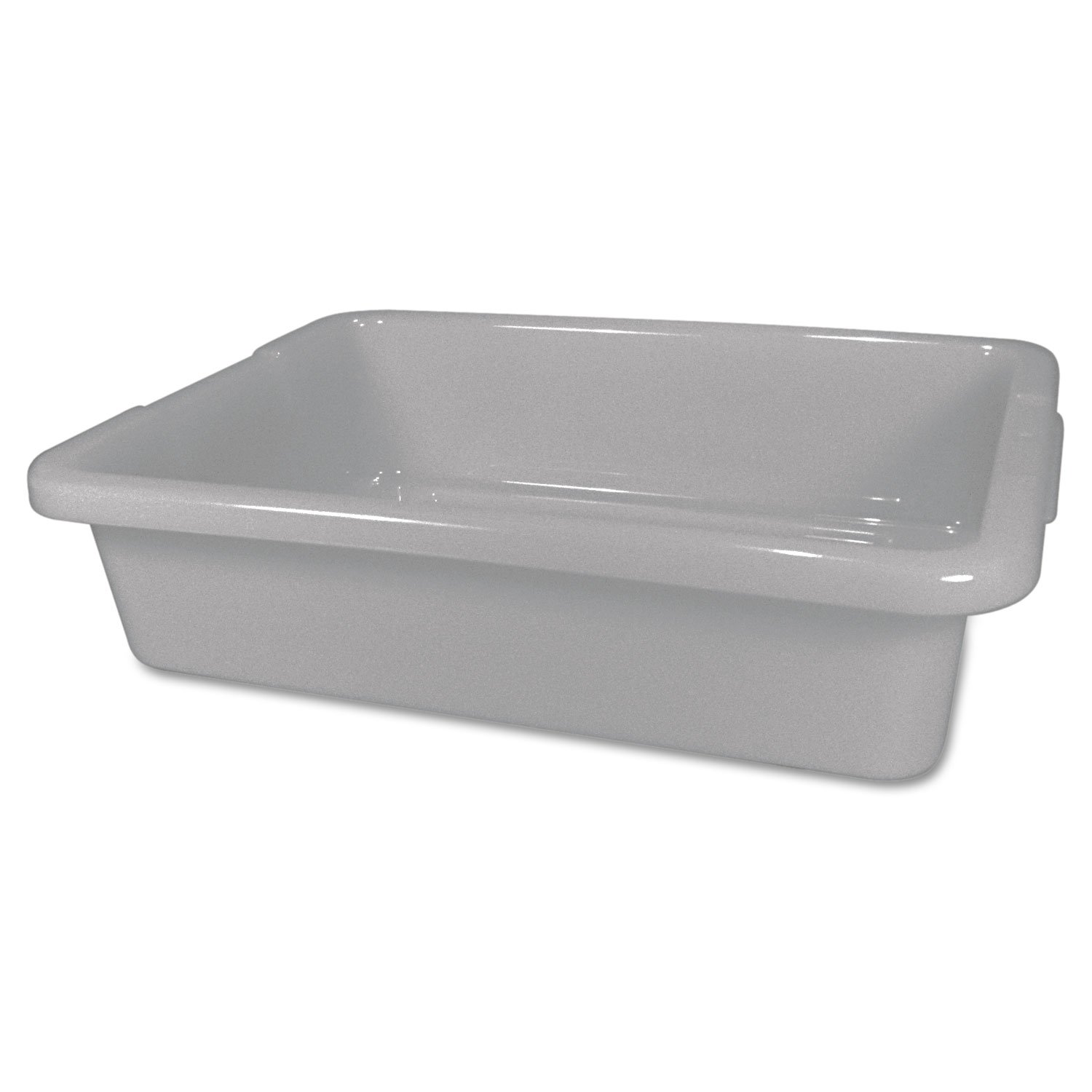 Rubbermaid Commercial 3349 4-5/8-Gallon Capacity, 20'' Length x 15'' Width x 5'' Height, Gray Color, High-Density Polyethylene Bus and Utility Box