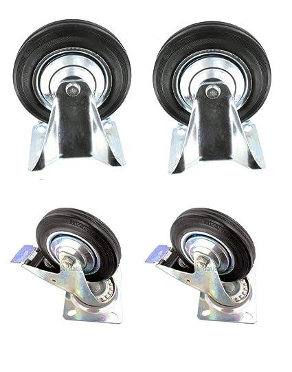 75 mm ruedas ruedas ruedas de transporte con placa ruedas fijas o para mueble (playa