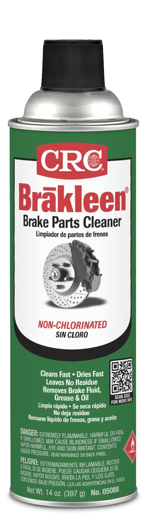 CRC Brakleen Non-chlorinated Brake Parts Cleaner, 14 Oz, Pack of 12 Cans by CRC