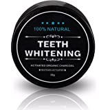 Tooth Whitener, FirstFly Teeth Whitening Powder Natural Organic Activated Charcoal Bamboo Toothpaste Whitens Stained Teeth (Black) (Black)
