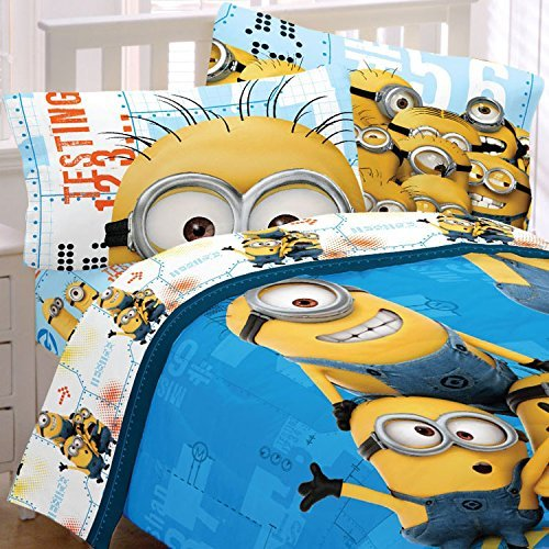 (Despicable Me Twin Bedding Set Minions Testing 123 Comforter and)