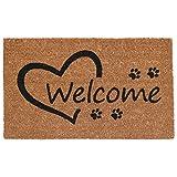 Home & More 103351729 Open Heart Paws Doormat