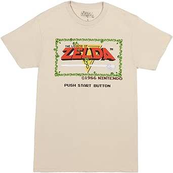 Nintendo Legend of Zelda Original Start Menu Adult T-Shirt