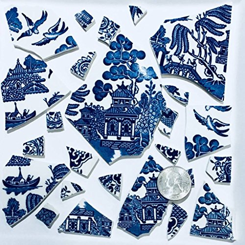 Mosaic Art and Craft Supply Blue Willow Large Feature Tiles T 472