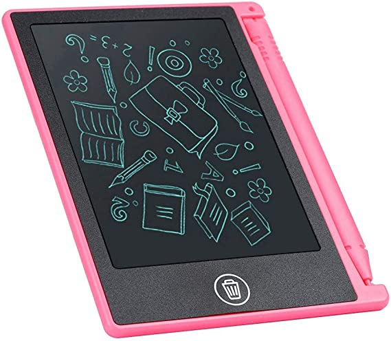 子供用4.5インチLCD電子描画パッド、子供/子供用手書きライティングタブレット描画ボードメモリストリマインダーノート(赤)