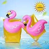 infinitoo Braccioli Bambini Piscina Fenicottero Giochi Gonfiabili PVC per Nuoto, Spiaggia e Mare Comodo, Leggero Maneggevole Sicuro e Pratico per Bambini 3-6 Anni