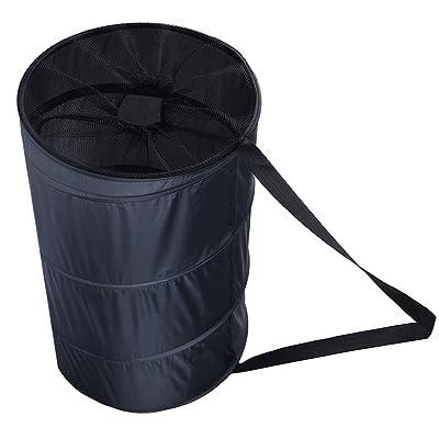Uarter Panier à linge pliable Vêtements de grande capacité Organiseur pratique Vêtements Panier de rangement avec sangle, Noir