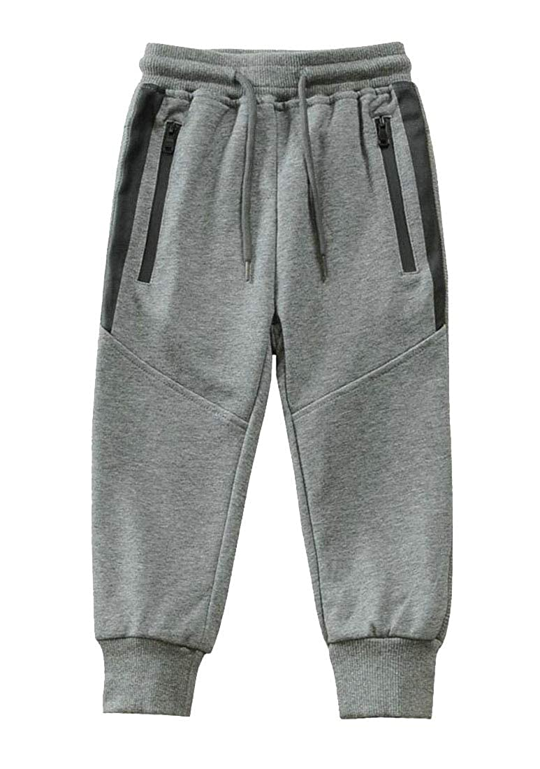 GloryA Boys Cozy Sweatpants Knit Slim Jogger Athletic Pants