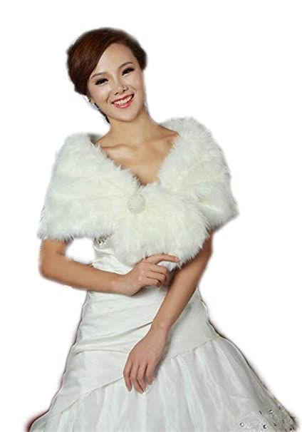 HaiDean Capa Mujer Invierno Elegantes Novia Bridal Cerimonia ...