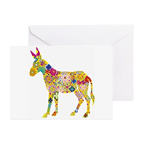 Amazon Cafepress Greeting Cards Pk Of 20 Flower Donkey