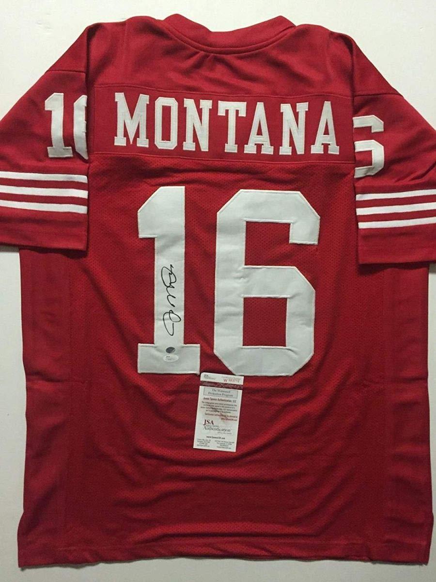 Autographed/Signed Joe Montana San Francisco Red Football Jersey JSA COA