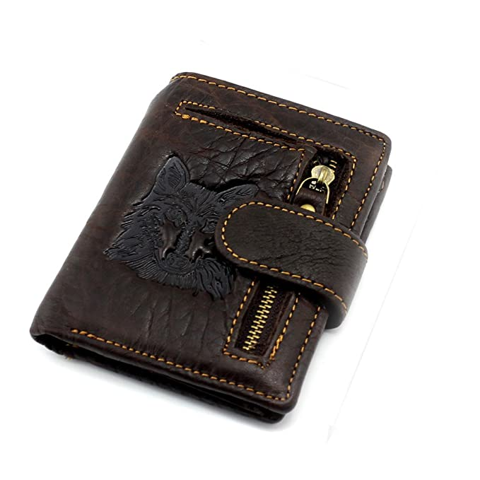 9ada79bbe3 Top Quality Genuine Leather Wallet Wolf Totem Men Wallets Luxury ...
