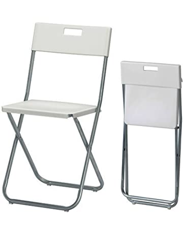 IKEA Gunde-Silla plegable, color blanco