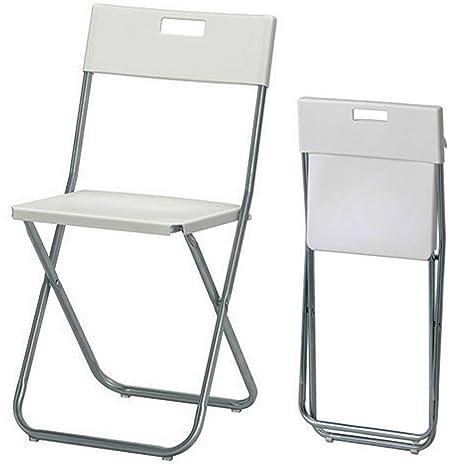 Sedie Pieghevoli Trasparenti Ikea.Ikea Gunde Sedia Pieghevole Colore Bianco