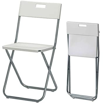 Ikea GUNDE - Folding chair white  sc 1 st  Amazon UK & Ikea GUNDE - Folding chair white: K Hagberg/M Hagberg: Amazon.co.uk ...