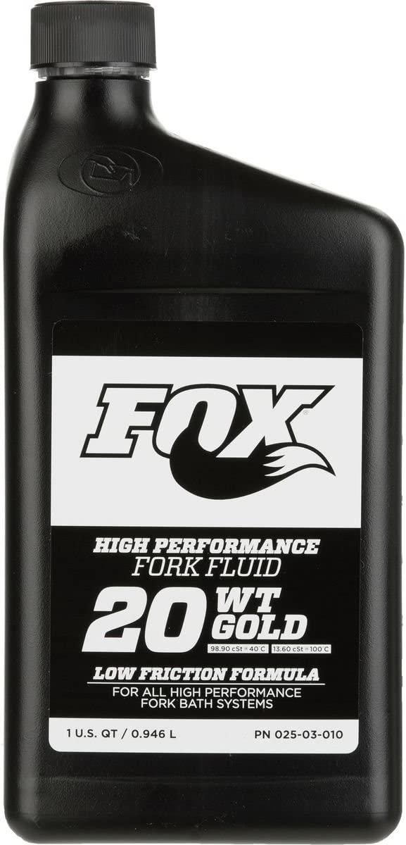FOX Racing Shox Suspension Fluid - 32oz. Gold, 20wt. for FIT and Open Damper Cartridge