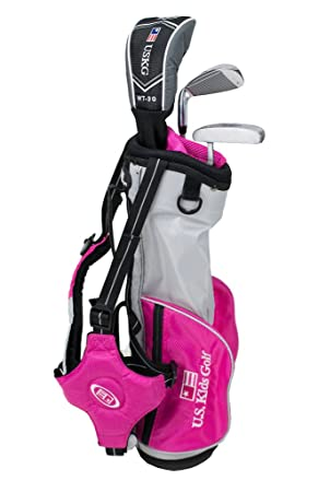 US kids Golf UL 39 Set Bolsa de Palos, Unisex niños, Rosa, 3 ...