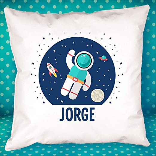 Cojín Personalizado Infantil - Regalo Original y Divertido para Regalar (Astronauta)