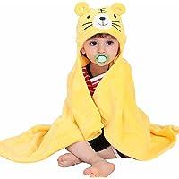Mture Sortie de bain a capuche, drap de bain bebe, Mignon Animal Peignoir Sortie de Bain Pour Bébé - jaune