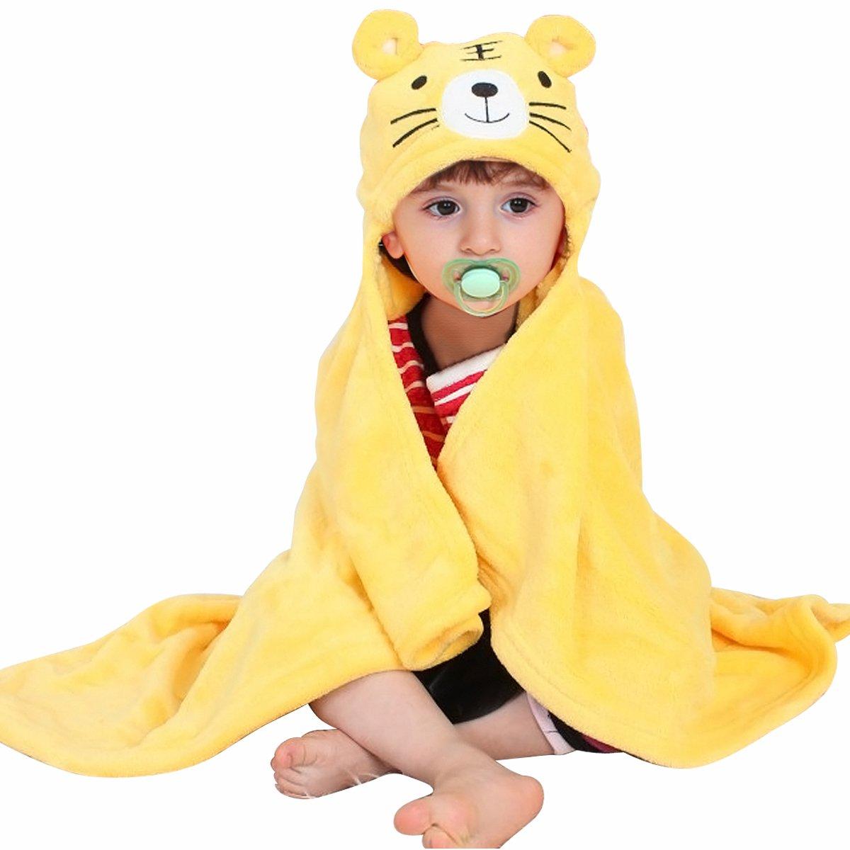 Mture Accappatoio neonato, Asciugamano per Bambini Animal Asciugamano da Bagno Doccia dei Neonati e Piccini con Cappuccio poncho caldo e morbido, Perfetto per la Doccia dei Bambini - rosa 628YJ01rr