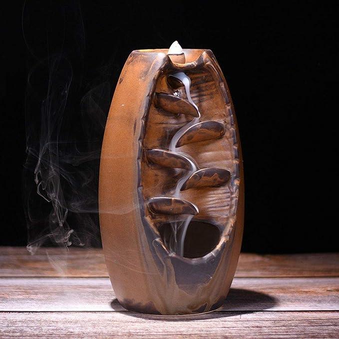 Mountain River Handicraft Holder Backflow Censer Ceramic Burner Incense Holder c
