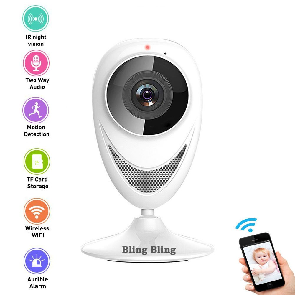960P Home Camera Indoor Wireless IP Security Surveillance System with Motion Detection and Night Vision for Front Porch Pet House Office and Nanny Baby Monitor (960P) by Bling Bling