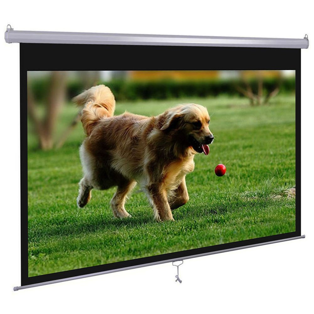 Dansung Manual Pull Down Projector Screen 72'' 4:3 HD Projection Screen for Indoor Home Theater Business Office TV Presentation Movie Screen with Durable Wrinkle-Free retrack and stop feature