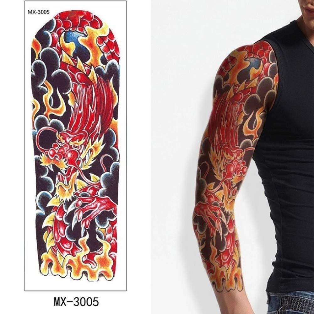 Etiqueta engomada del tatuaje Brazo hermoso Flor grande Tatuaje ...