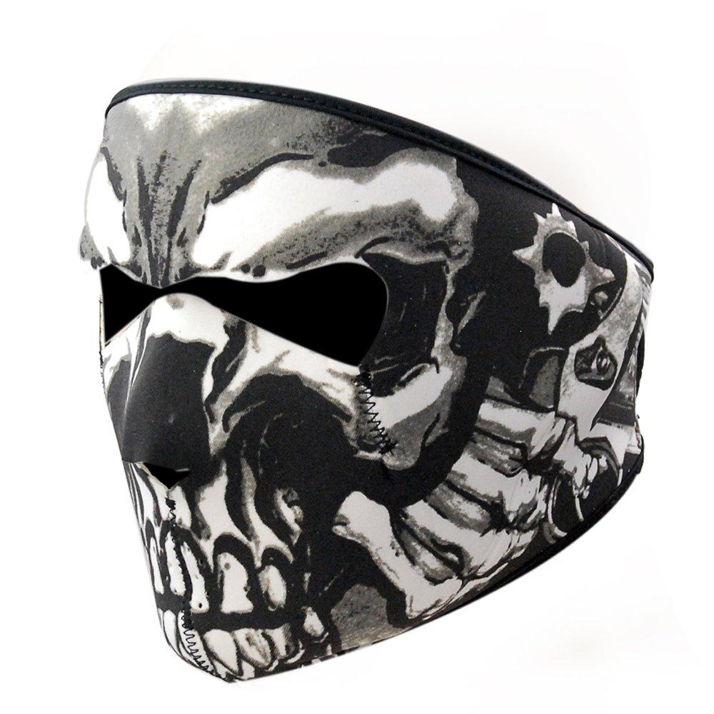 US Winter warm Skull Half Face Mask Motorcycle Cycling Ski ...