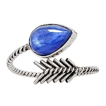 Israeli Design - Kyanite 925 Sterling Silver Ring Jewelry Size 11.5 26122R