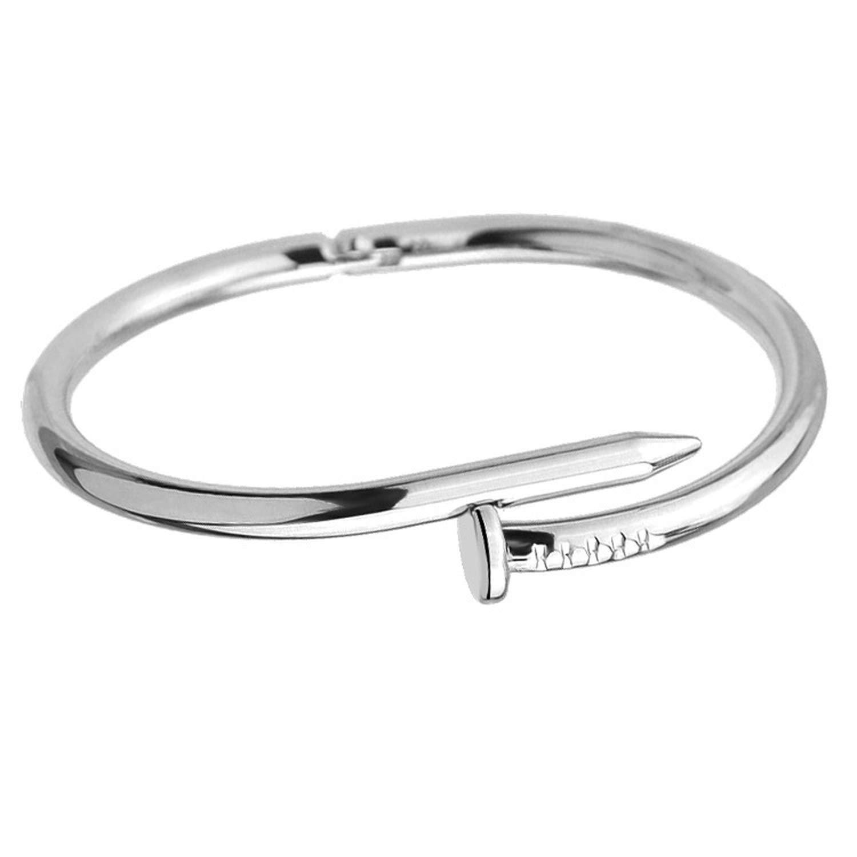 Trendy Rose Gold Silver Lover Bracelet For Women Bangle Lover Bracelet Jewelry Love Bracelet Bangle Gifts,Silver