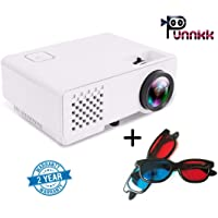 Punnkk P6 Full HD Projector 1000 Lumen 1080P LED LCD Home Theater Projector with Free 3D Glasses/ Spectacles
